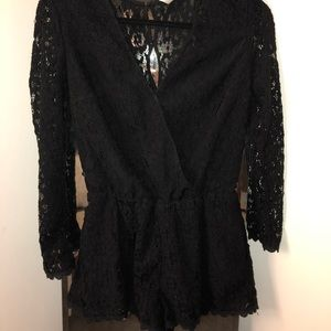 Free People black lace romper